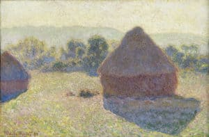 Haystacks, midday [Meules, milieu du jour] 1890 oil on canvas